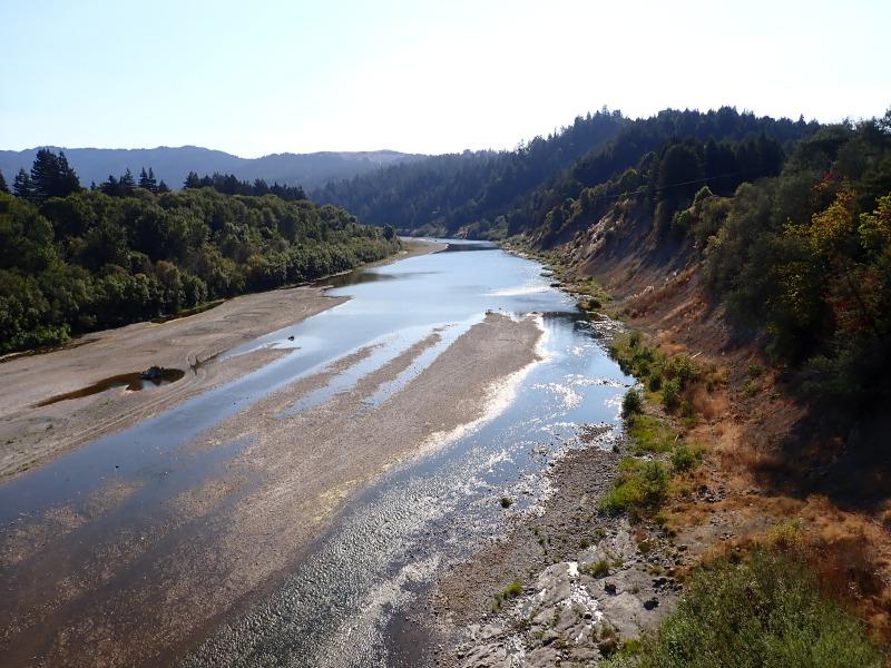 Eel River at Scotia running 26.3 cfs on September 17.